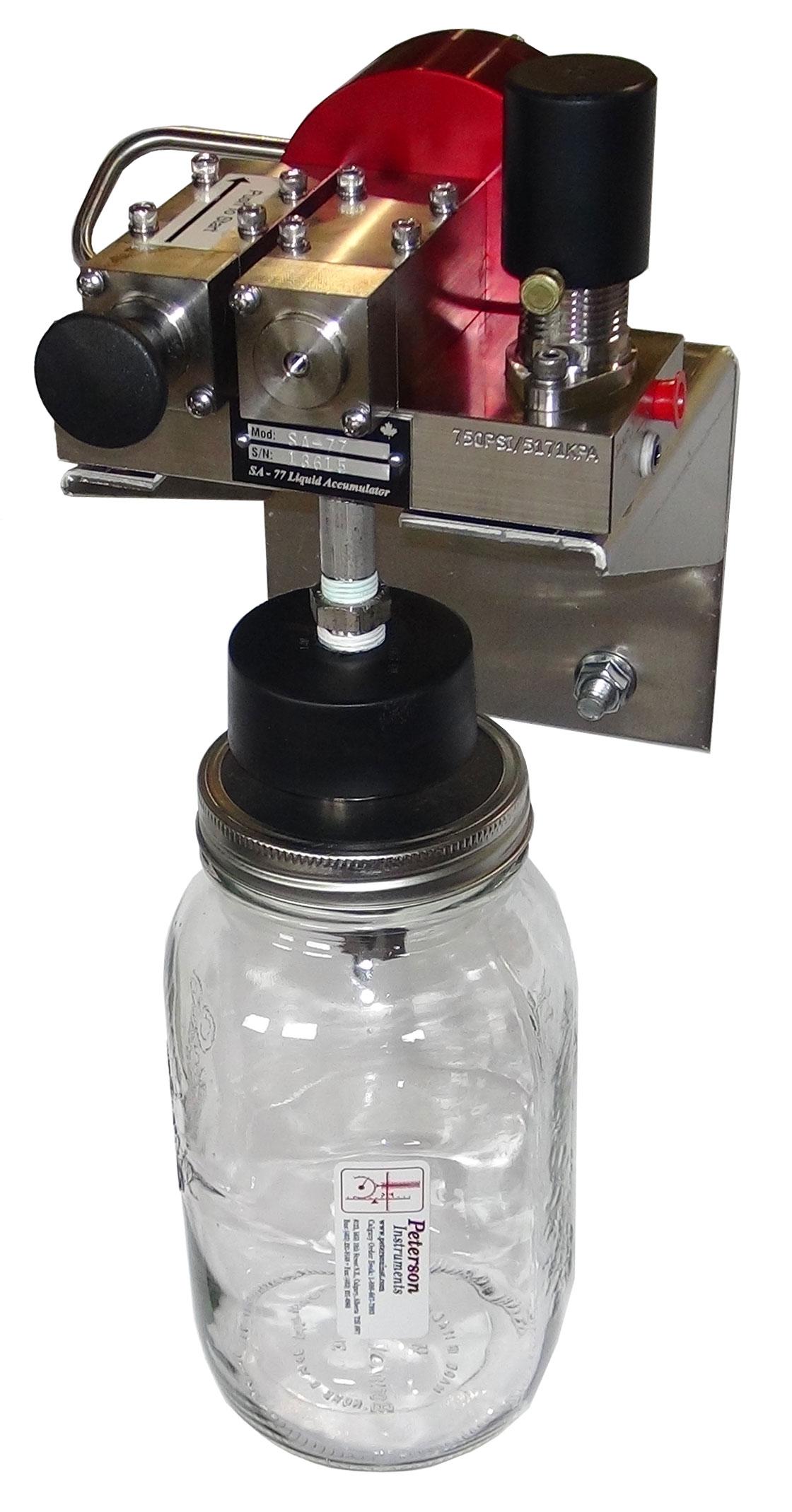 Single Stroke Liquid Sampler w/ Glass Bottle pt#: SA77SXXGX